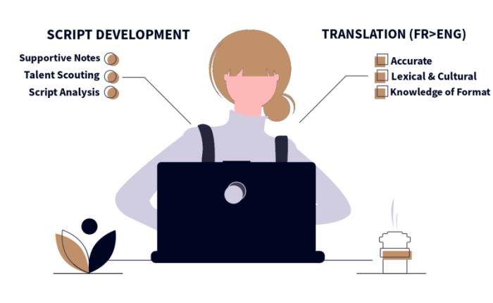 Services: Script Development / Script Translation (French > English)